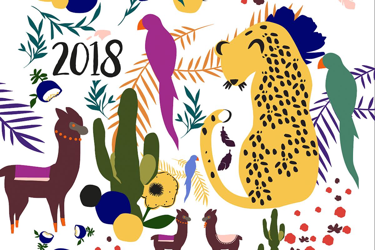 Illustration CALENDRIER À IMPRIMER - 2018
