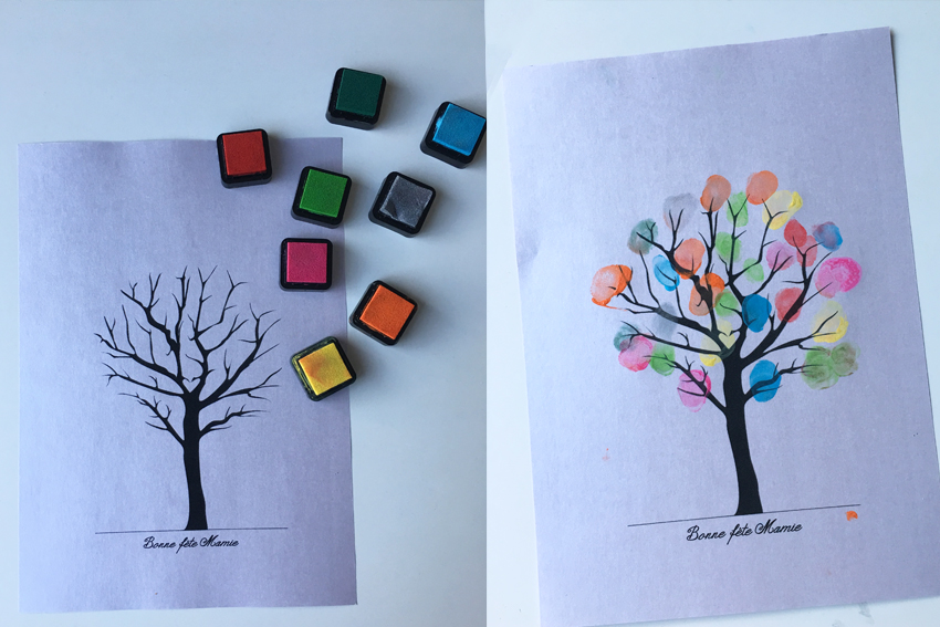 Illustration L'ARBRE À EMPREINTES - DIY