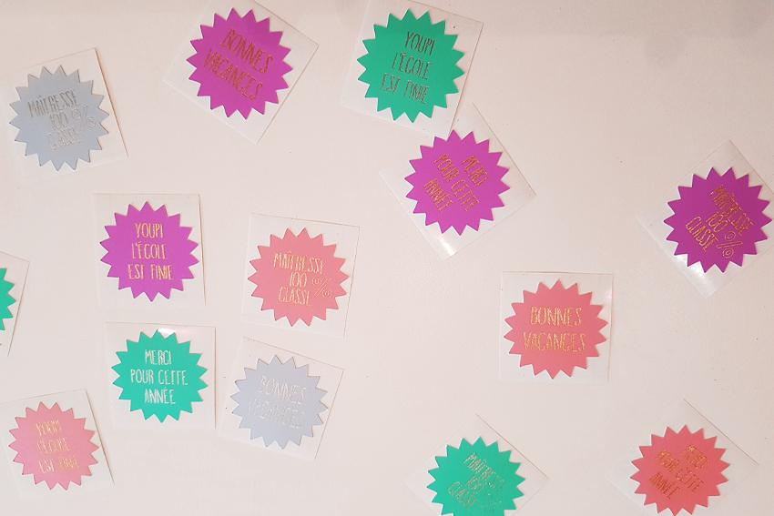 Illustration Stickers Cadeaux Maîtresse
