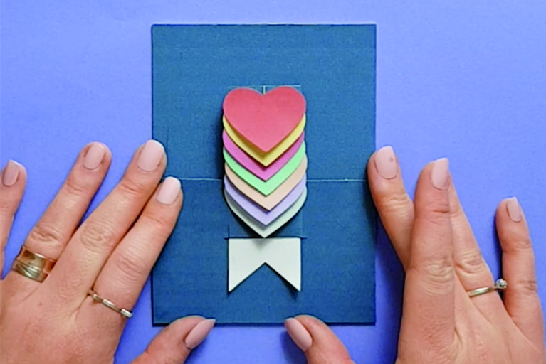 Illustration DIY tutoriel carte coeur
