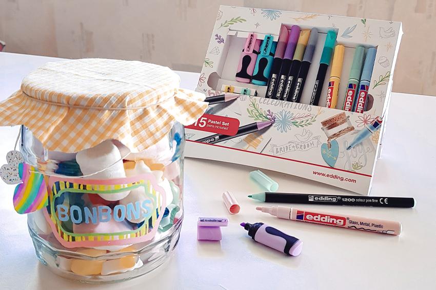 Illustration DIY le bocal à bonbons