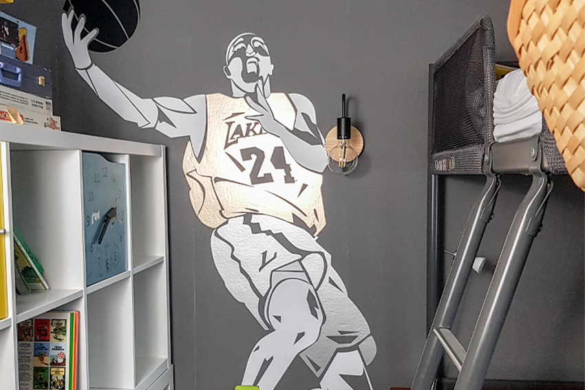 Illustration Sticker Géant Basketball avec Cricut Explore 3