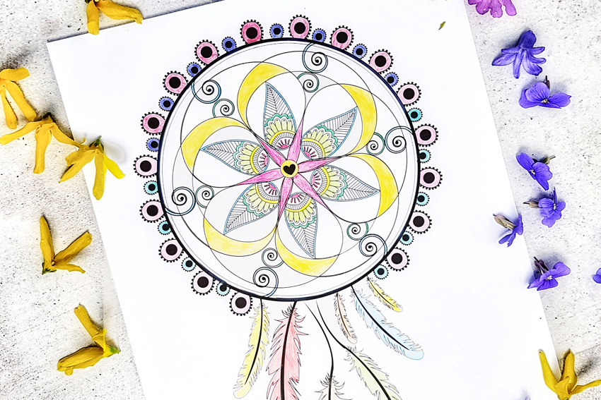 Illustration MANDALA À COLORIER