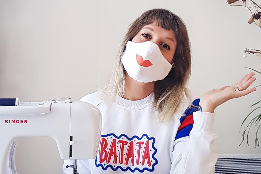 Illustration TUTORIEL COUTURE - le masque de protection en tissu