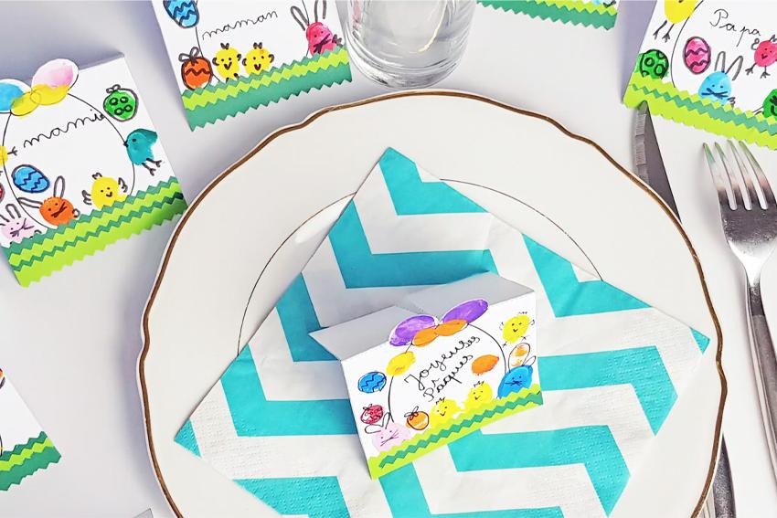 Illustration DIY Décoration de table pour Pâques