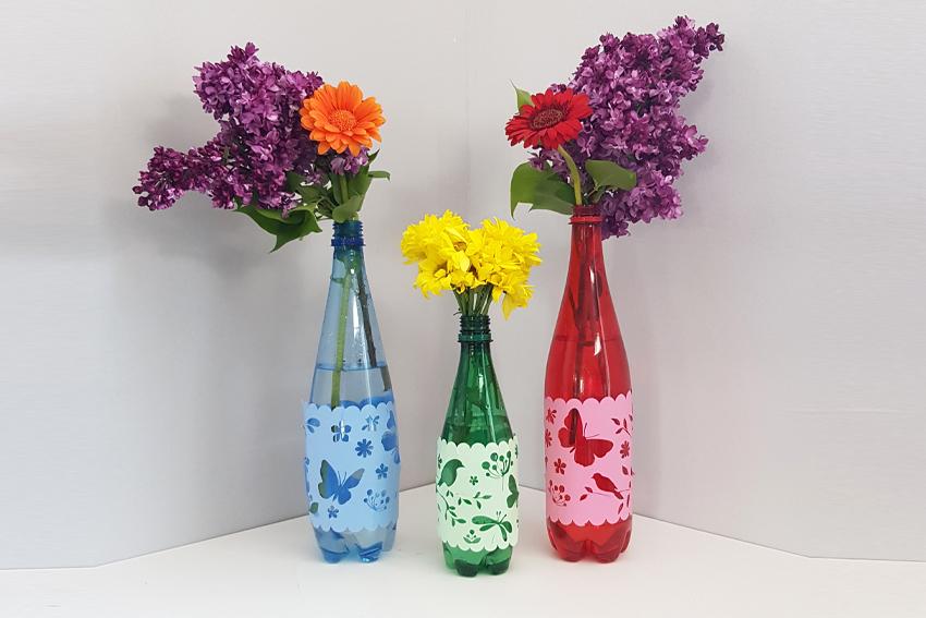 Illustration Recyclage bouteilles d