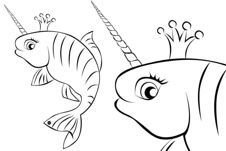 Poissons d 39 avril colorier et imprimer les mamans - Dessin de poisson d avril ...